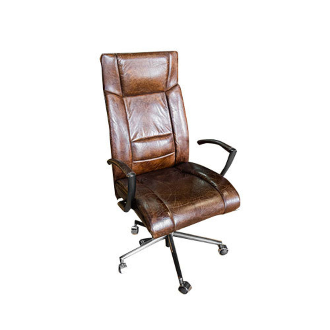 Washington High Back Leather Recliner Office Chair image 0