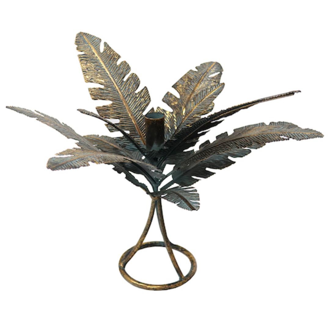 Leaf Candleholder Verdigris image 0