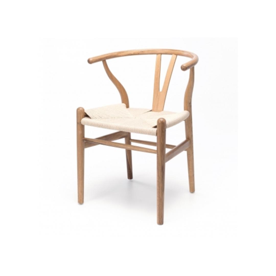 Agatha Chair Natural Oak Natural Rope Seat image 0