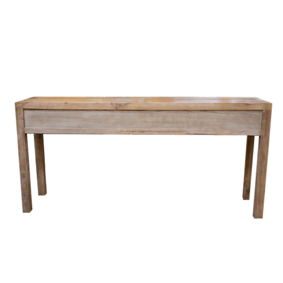 Recycled Elm 3 Drawer Hall Table image 4