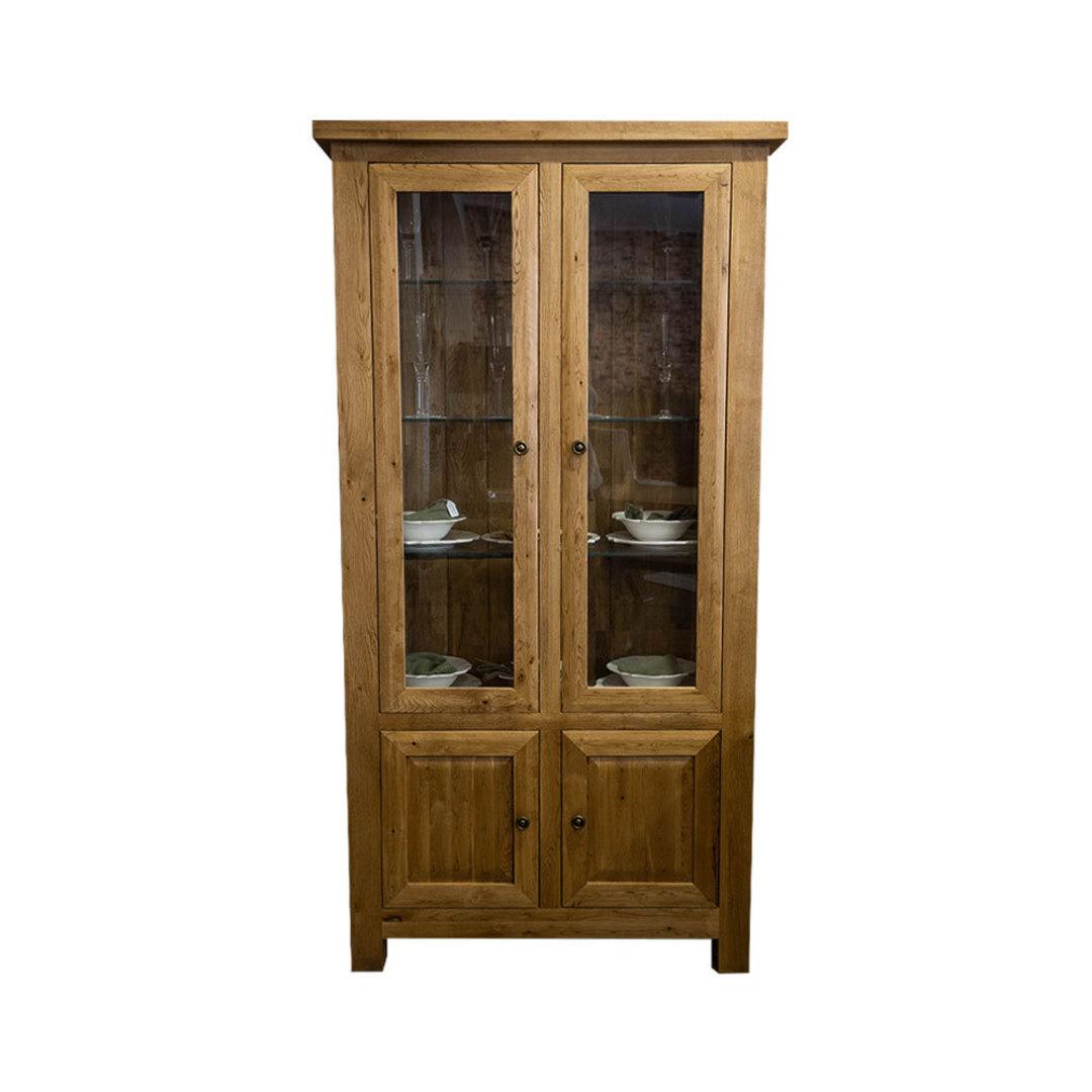 Light Oak Display Cabinet image 0