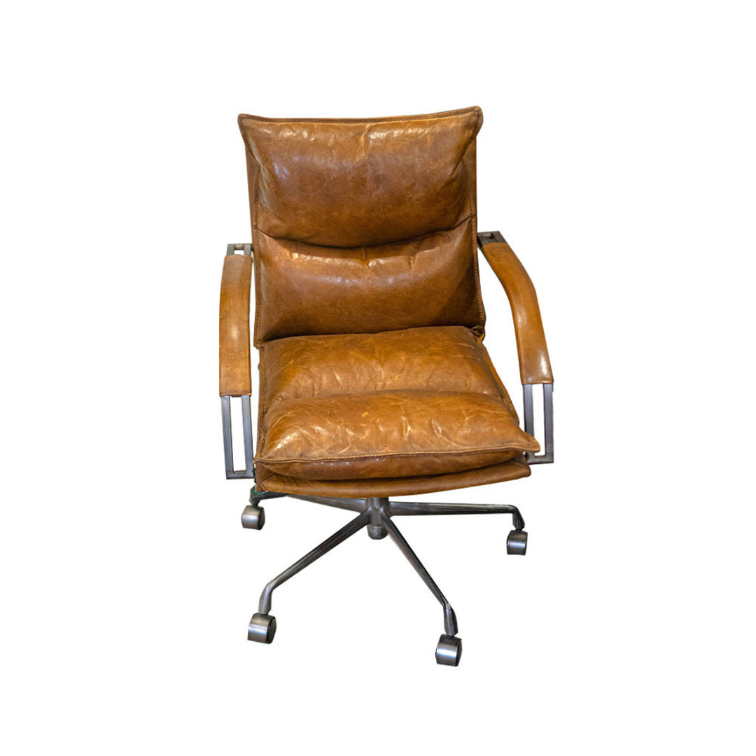 Hereford Vintage Leather Office Chair Height Adjustable image 3