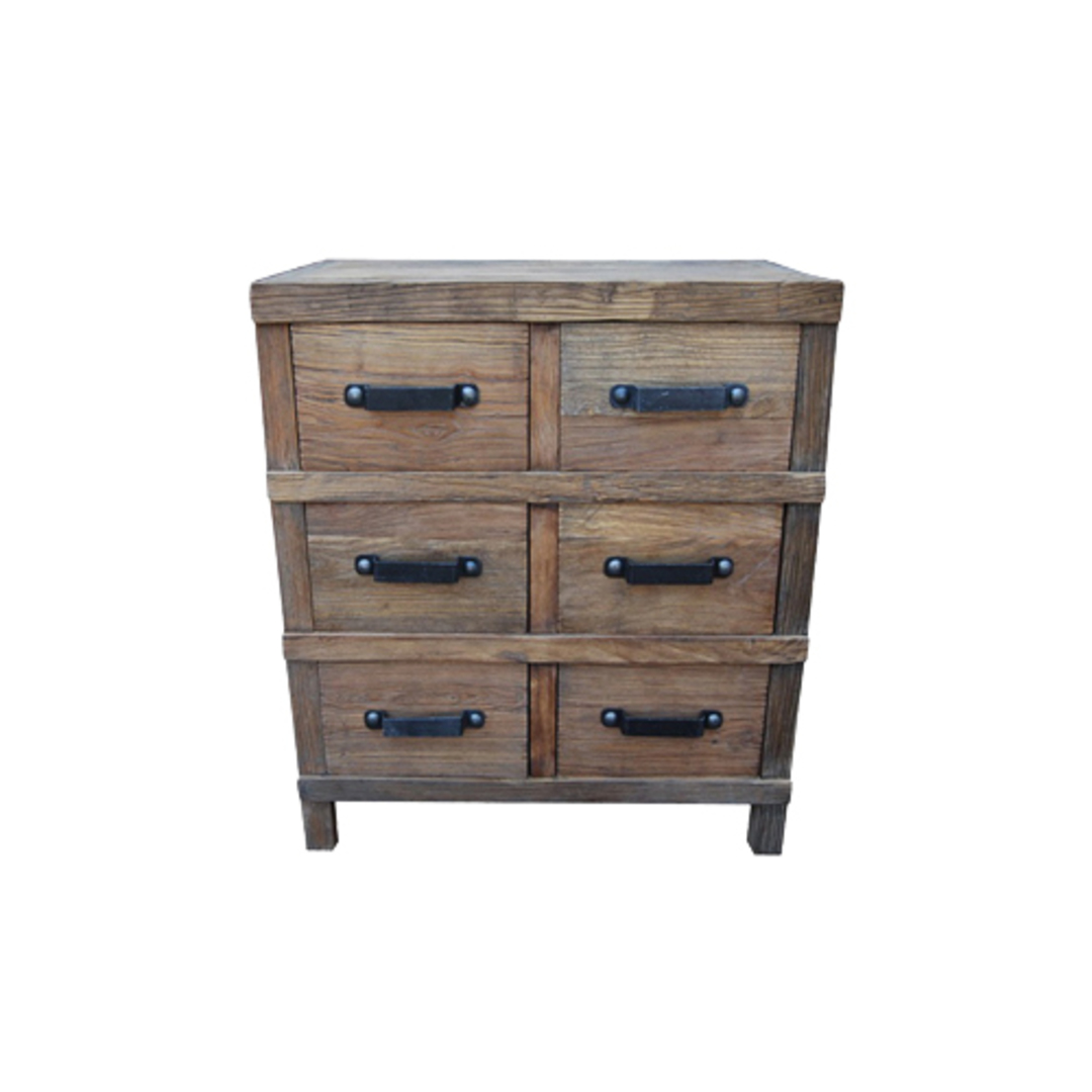 Recycled Elm 6 Drawer Chest image 0
