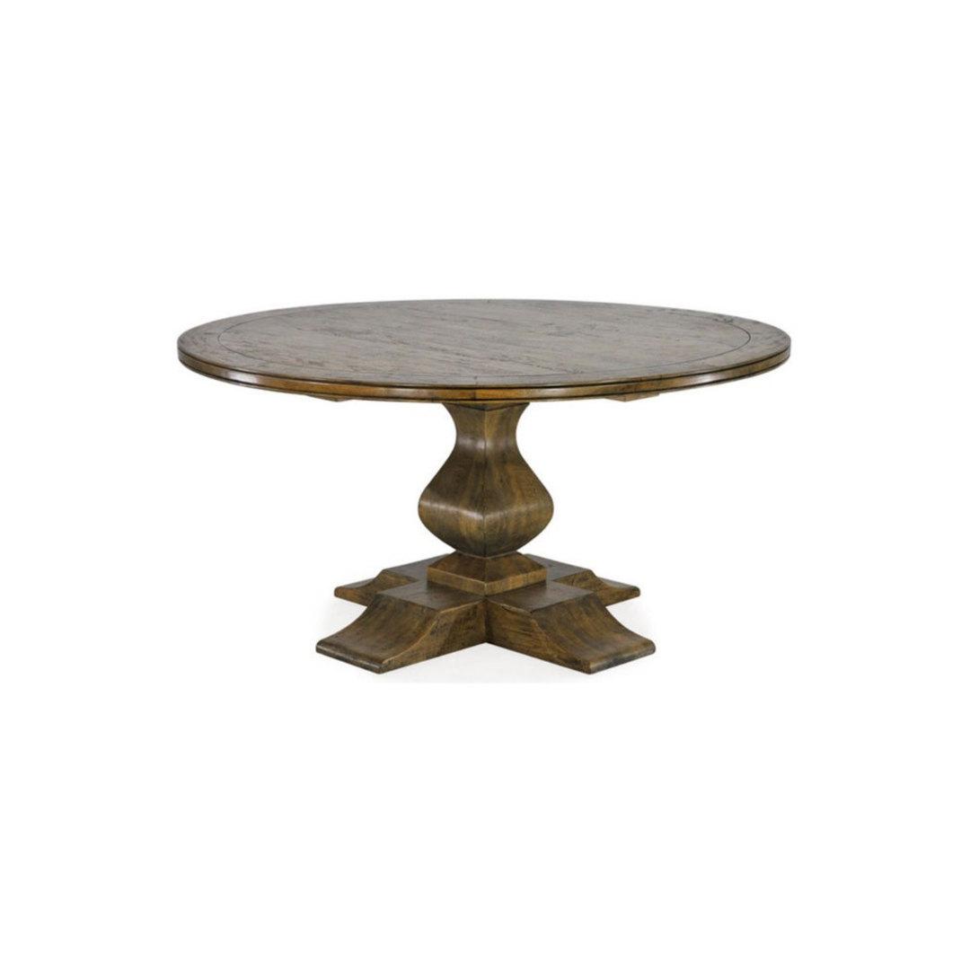 Antique Mango Wood Round Table 150cm image 0