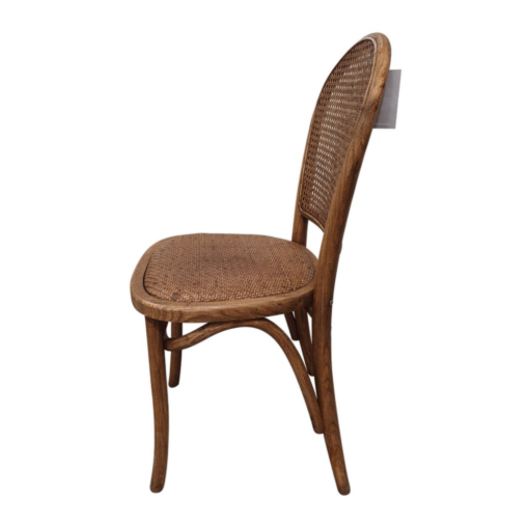 Meshach Rattan and Oak Dining Chair Natural Oak image 2
