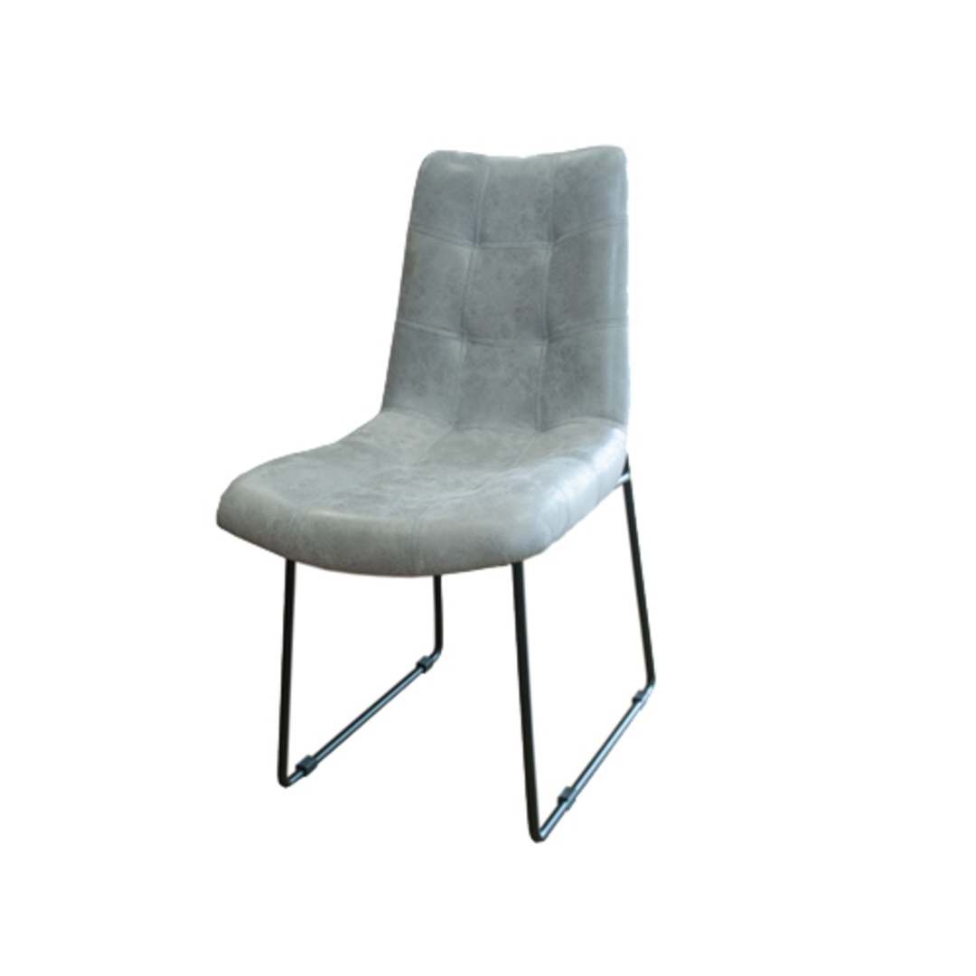 Roma Dining Chair Leather Grey image 0