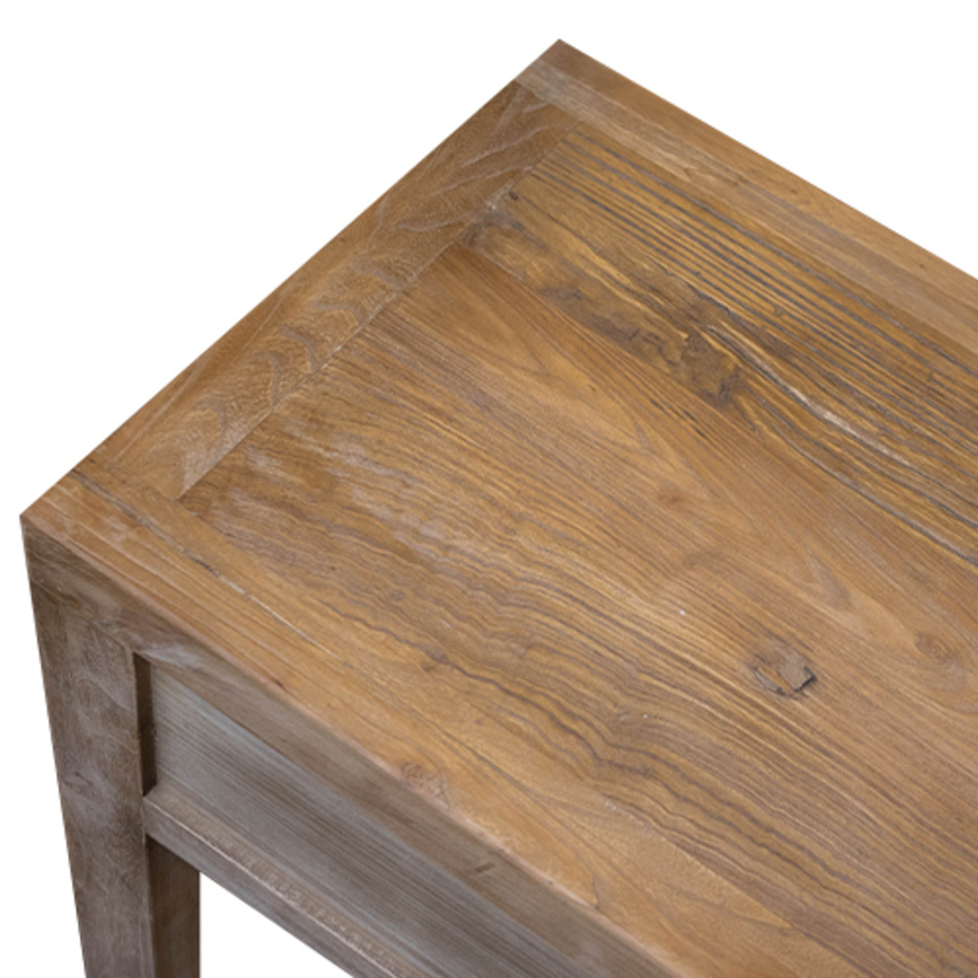 Recycled Elm 3 Drawer Hall Table image 6
