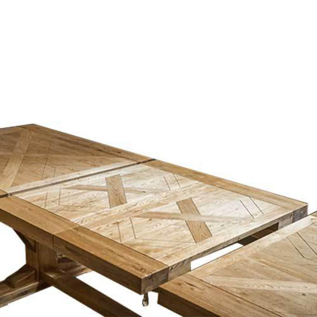 Oak Double Extension Table Parquet Top image 5