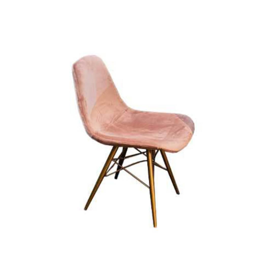 Naples Dining Chair Plush Pink Velvet image 0