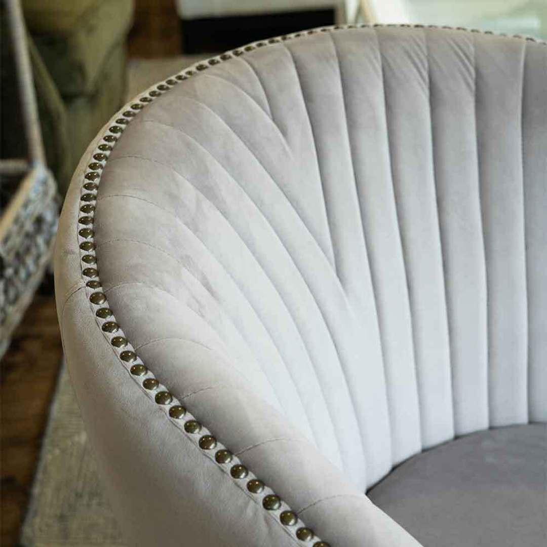 Cairo Velvet Carver Chair - Grey image 4