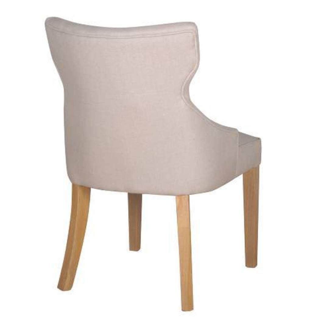 Fleur Dining Chair Natural Linen image 1