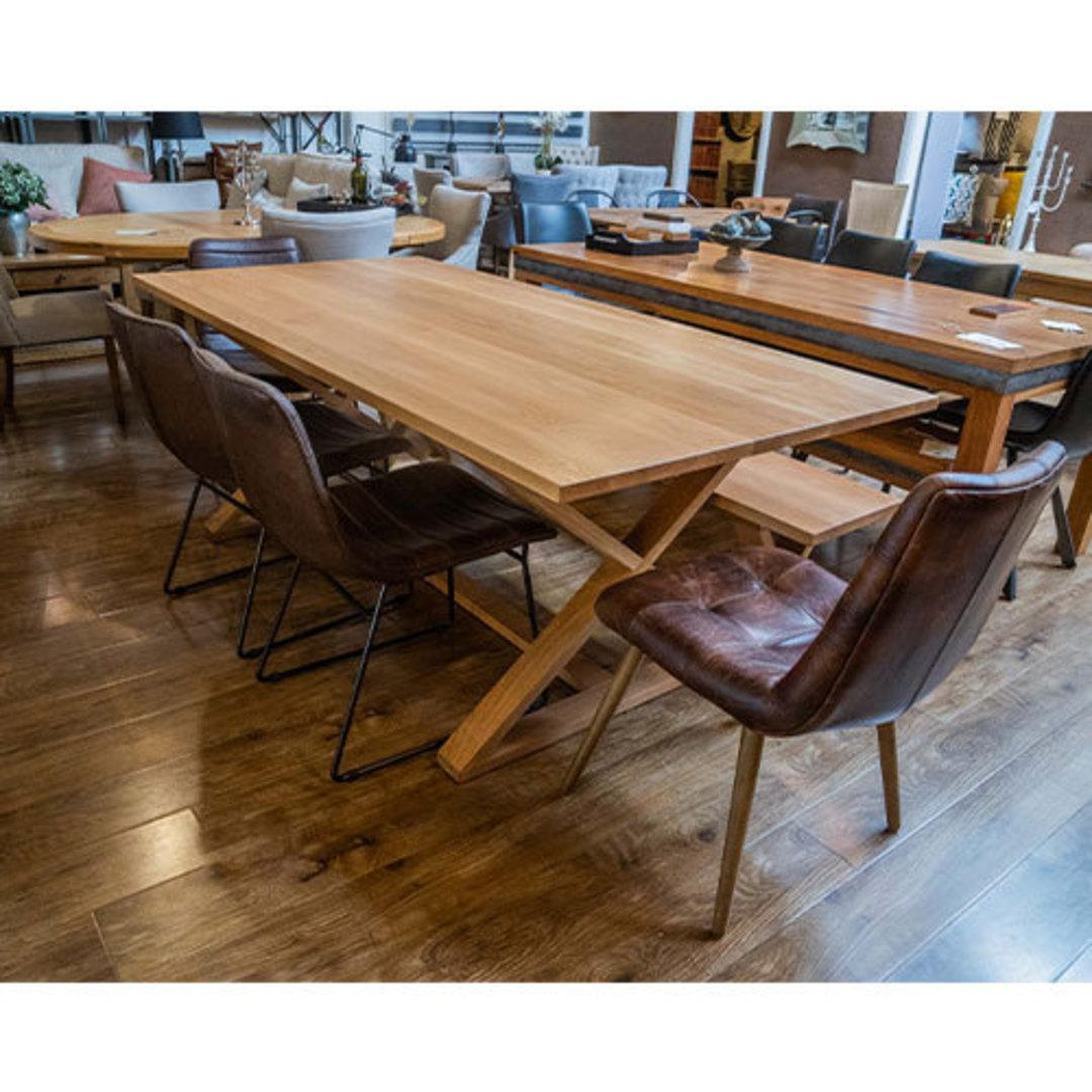 Oakleigh X-Leg Oak Table 2M image 8