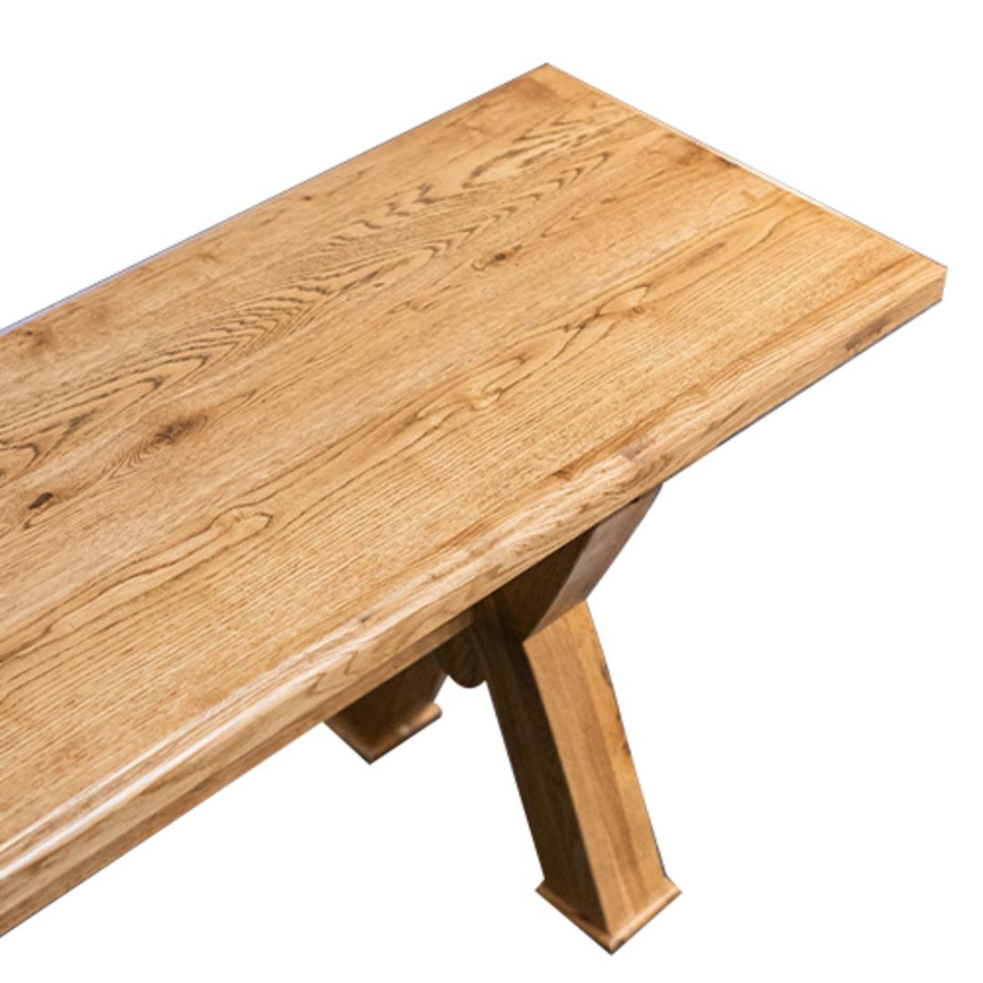 Antique Light Oak Bench Seat 2M image 3