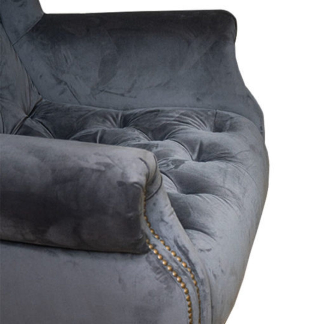 Theo Chair Plush Asphalt Grey image 2