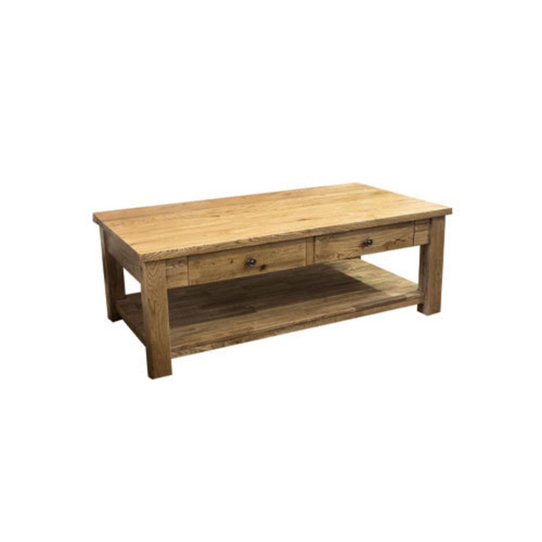 Oak Coffee Table 2 Drawer image 0
