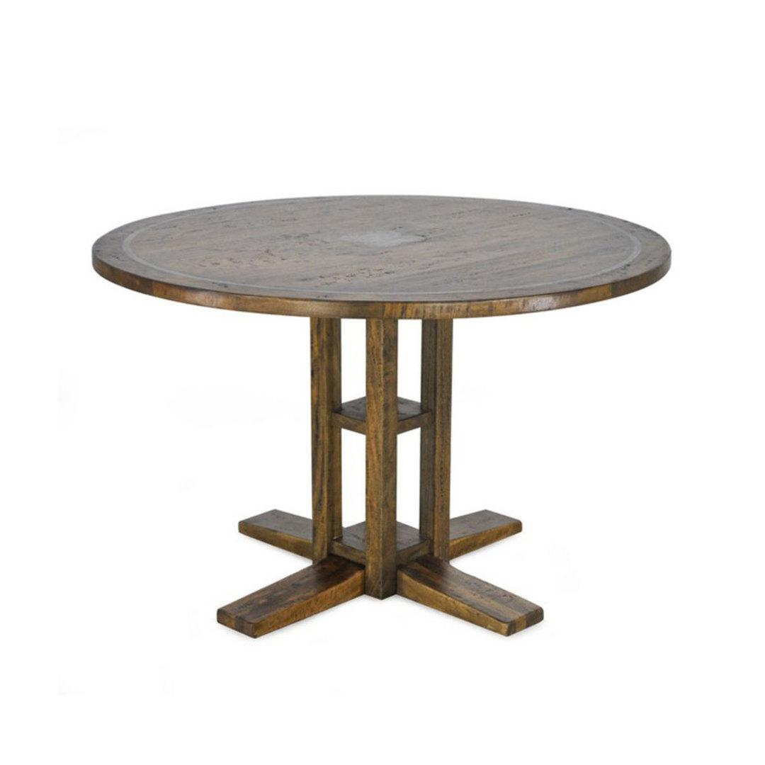 Farmhouse Mango Wood Round Table 120cm image 0