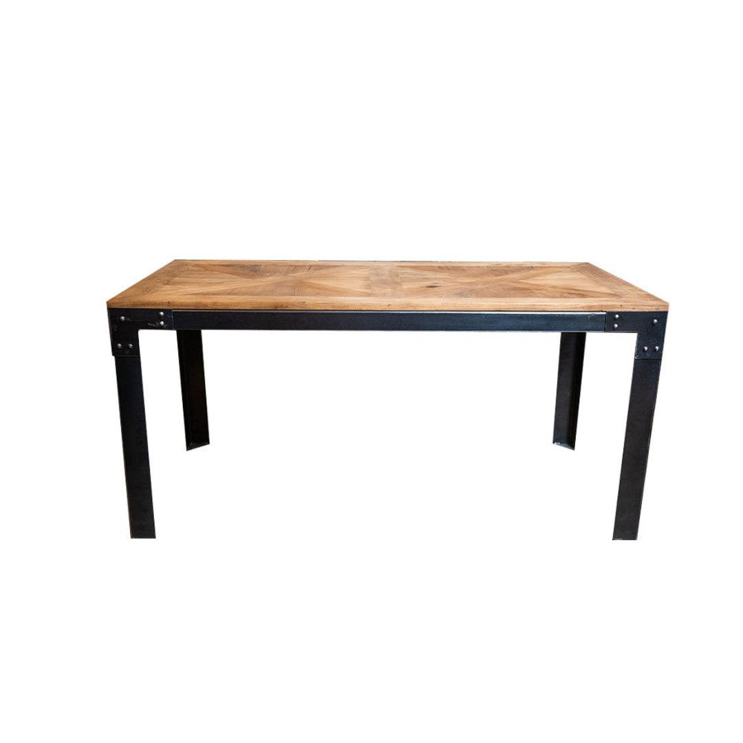 Elm Dining Table Iron Legs 1.6M image 0