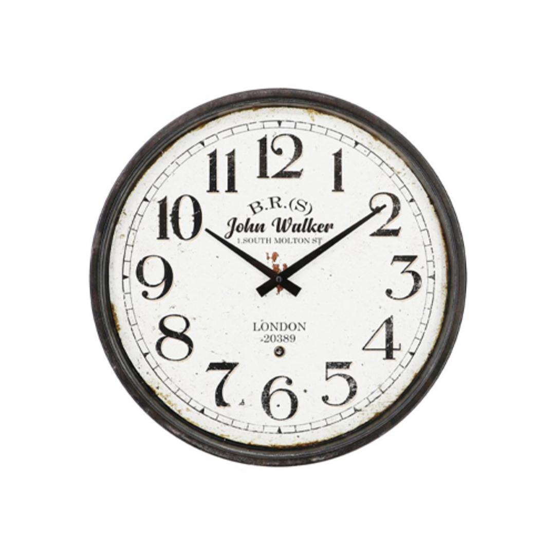 John Walker Iron Wall Clock image 0