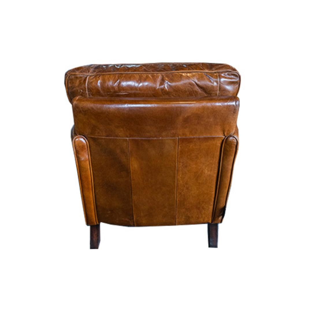Sandringham Aged Italian Leather Armchair image 3