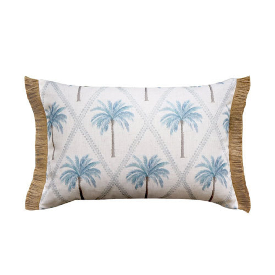 Capricorn Blue Lumbar Cushion image 0