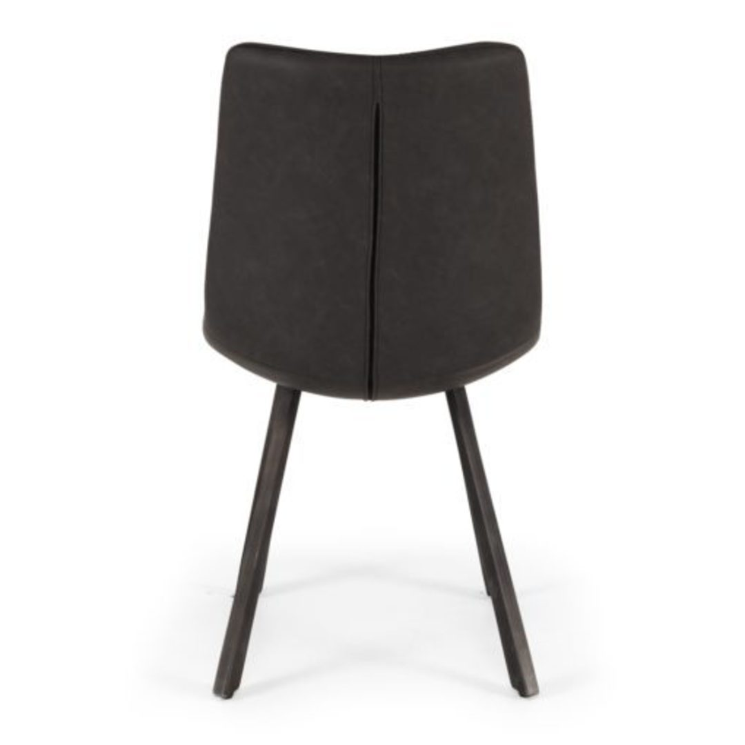 Rustic Dining Chair Grey PU image 3