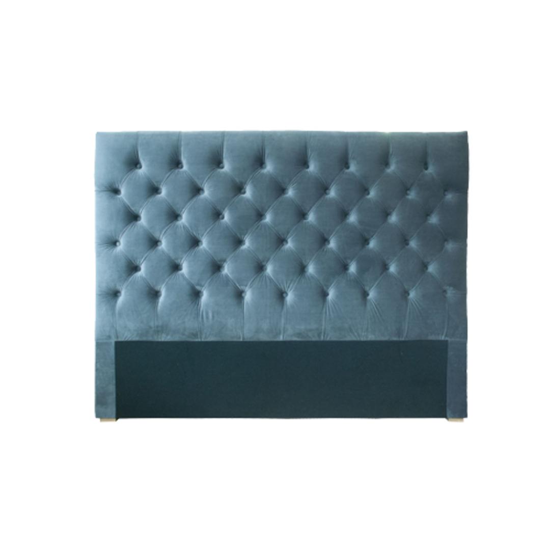 Cuba Double Size Bedhead Velvet Grey image 0