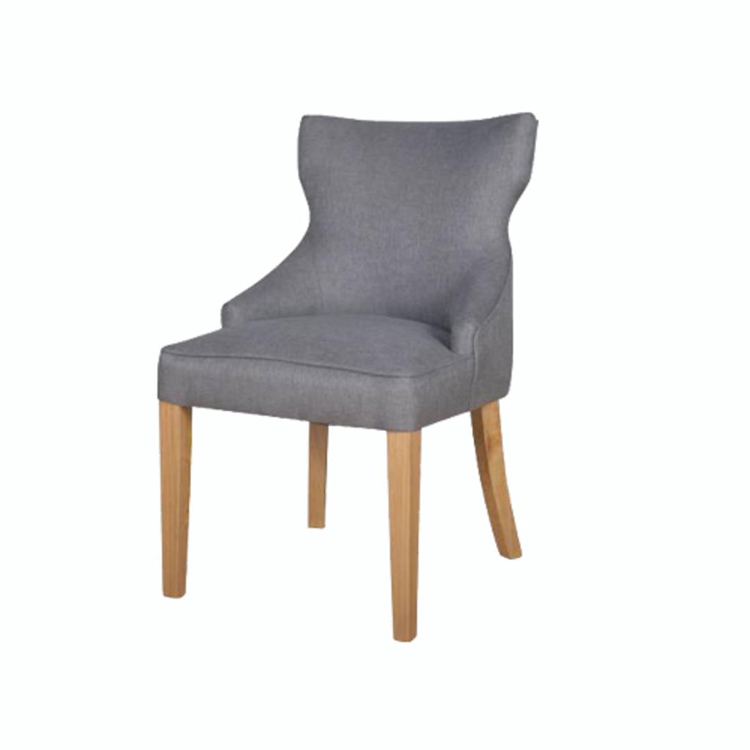 Fleur Dining Chair Grey Fabric image 0