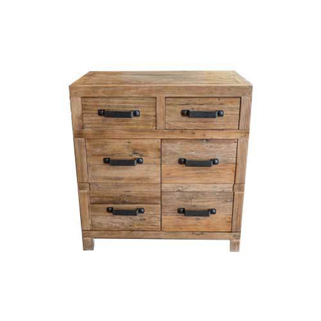 Recycled Elm 2 Drawer 2 Small Cabinet image 0