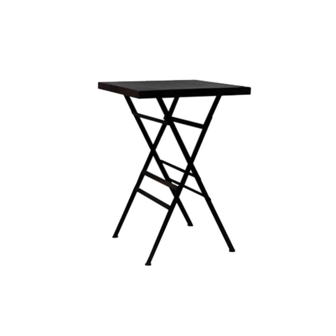 Square Black Metal Side Table image 0