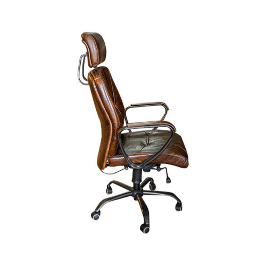 Philadelphia High Back Leather Recliner Office Chair image 1