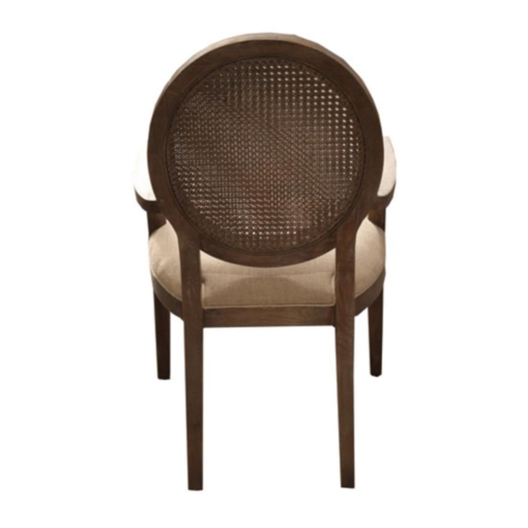 Valdez Rattan Back Carver Chair With American Oak image 3