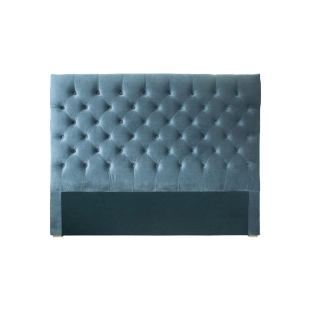 Cuba Super King Size Bedhead Velvet Grey image 0