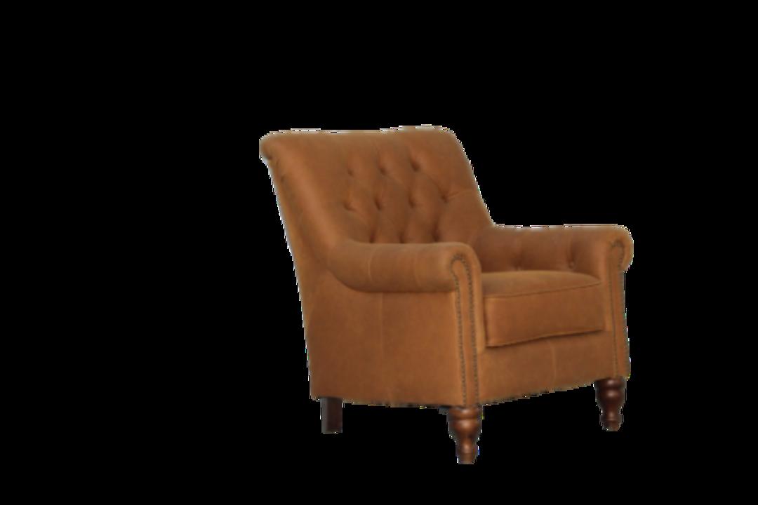 Sofia Chair Leather Tan image 1