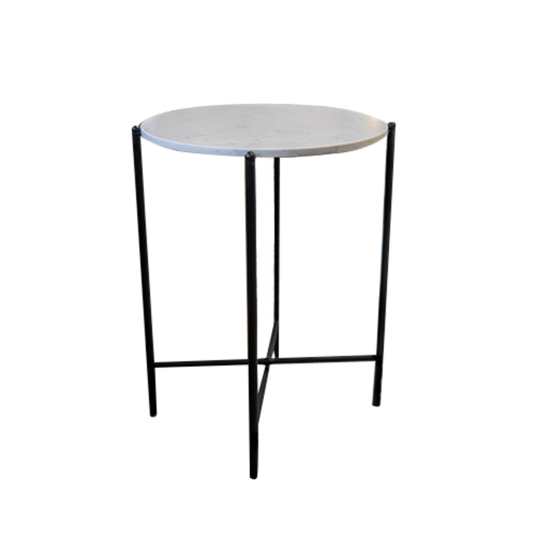 Crete Side Table White Marble image 0