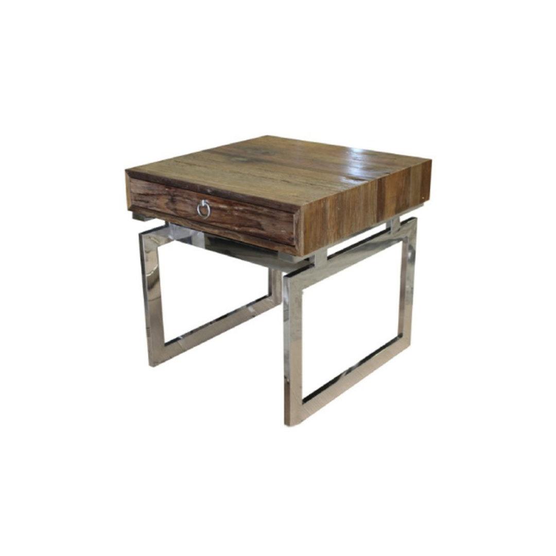 Pioneer Side Table Reclaimed Elm image 0