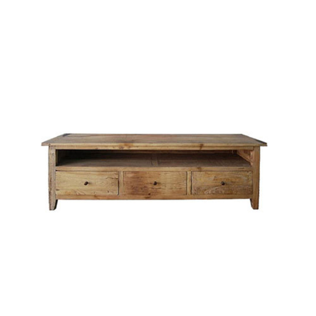 TV Unit Reclaimed Elm with 3 Draw 1.8M image 0