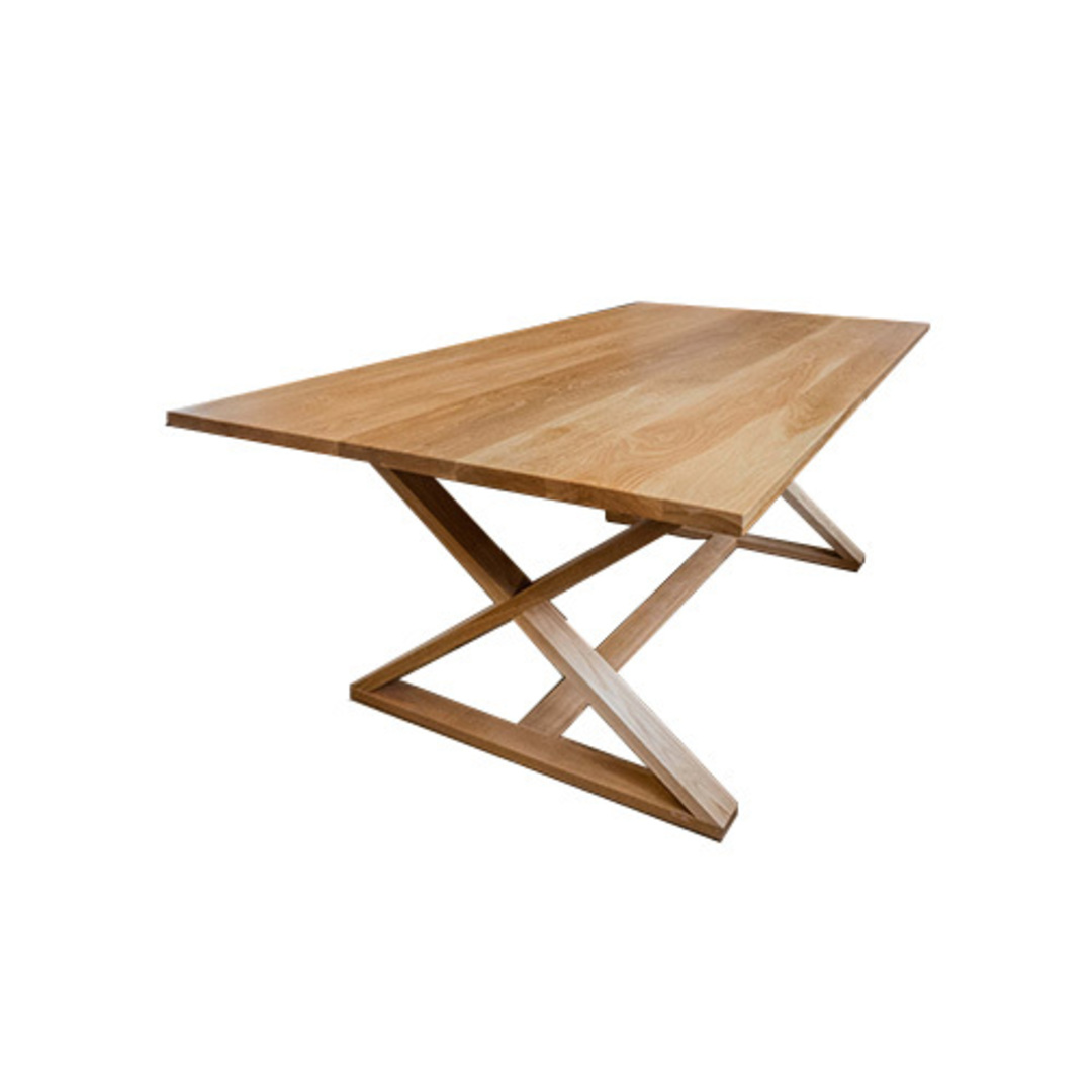 Oakleigh X-Leg Oak Table 2M image 1