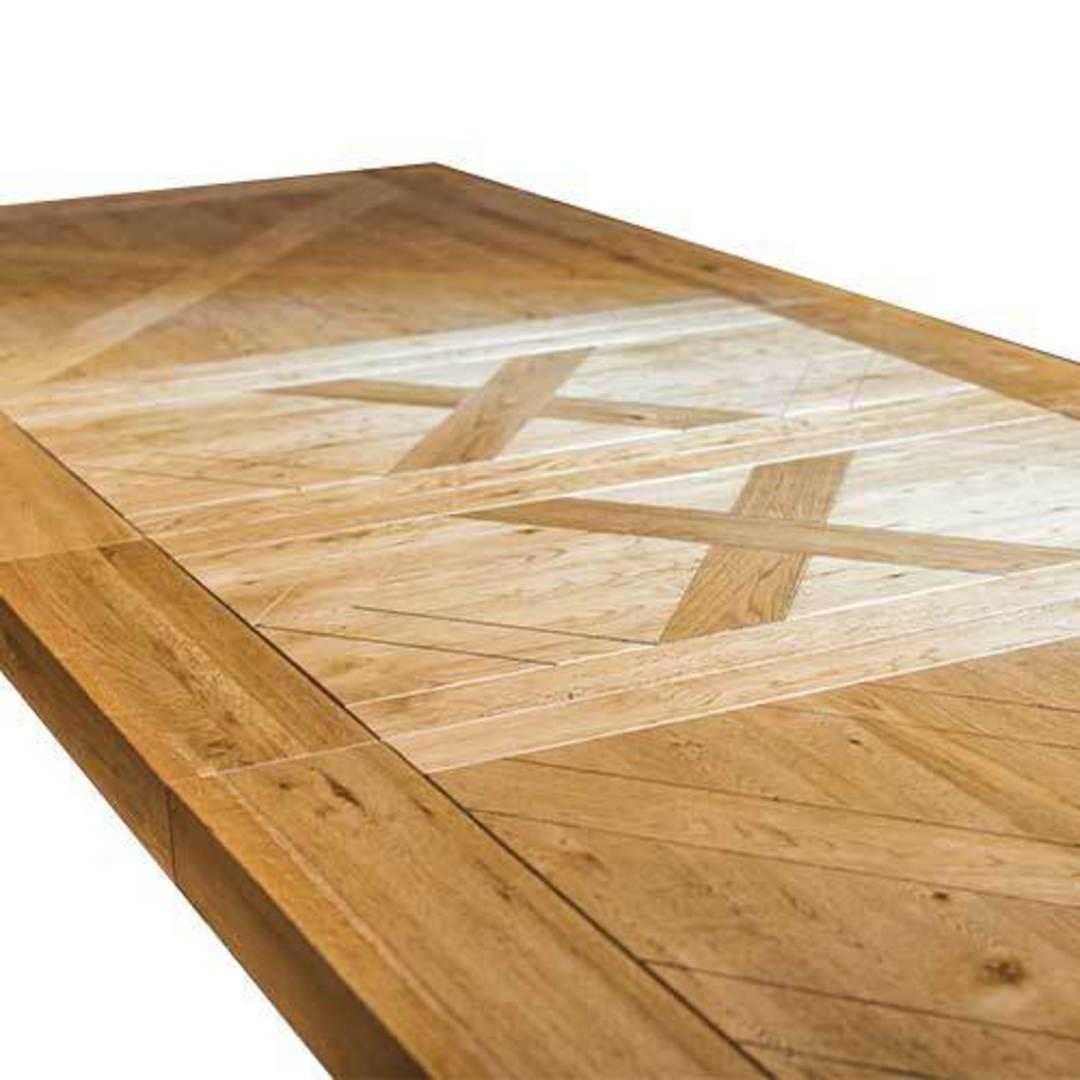 Oak Double Extension Table Parquet Top image 4