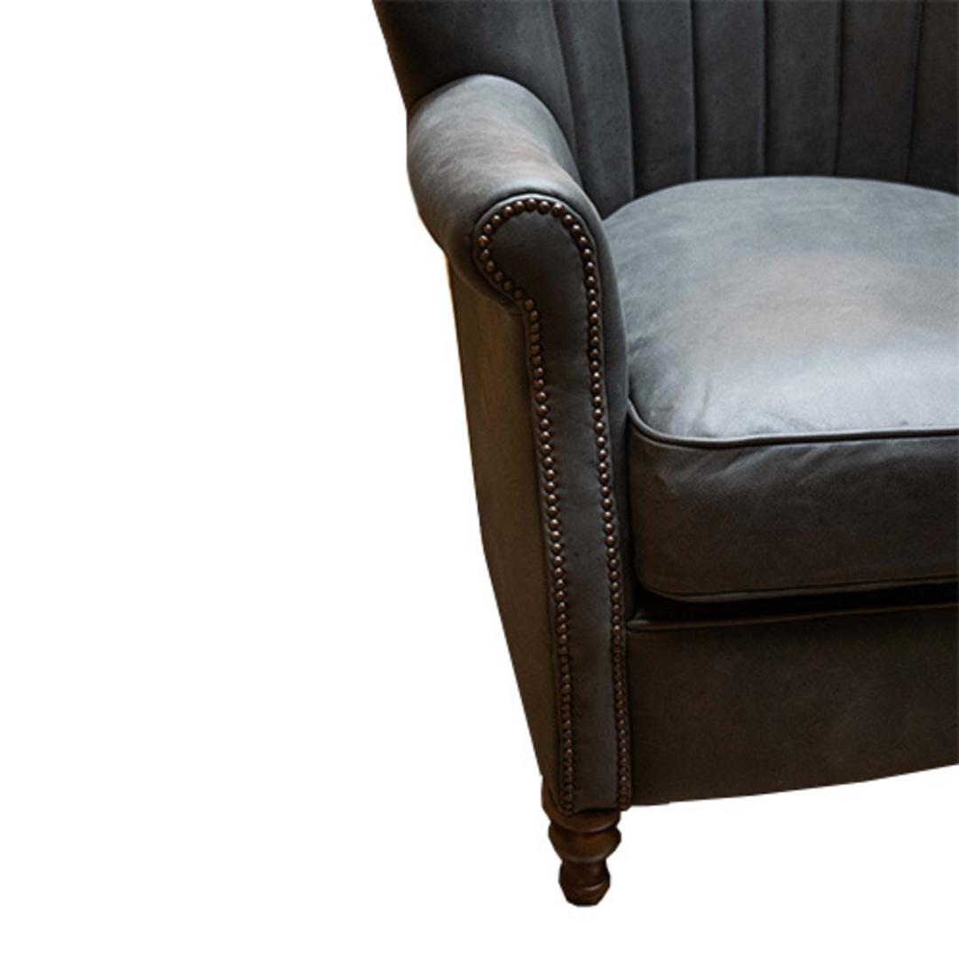 Percy Chair Plush Velvet Charcoal image 4