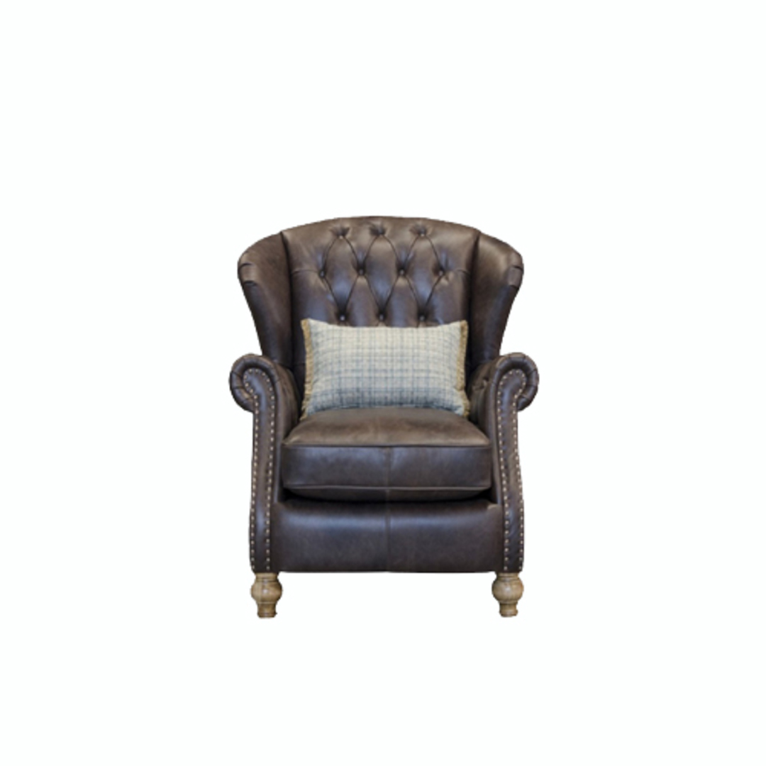 Bloomsbury Wing Chair Leather image 0