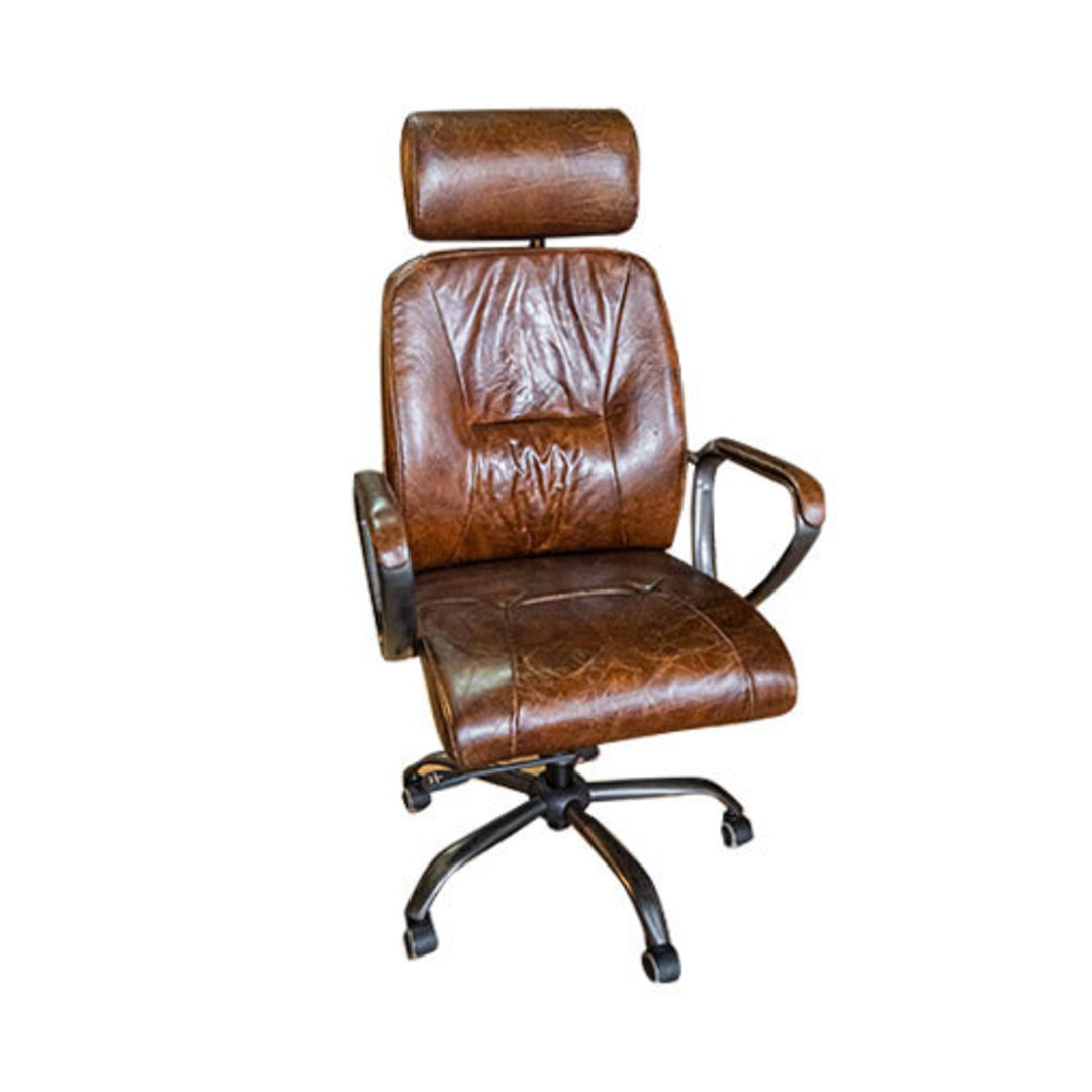 Philadelphia High Back Leather Recliner Office Chair image 0