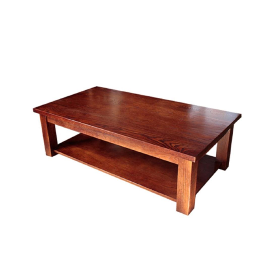 American oak coffee table NZ made image 0