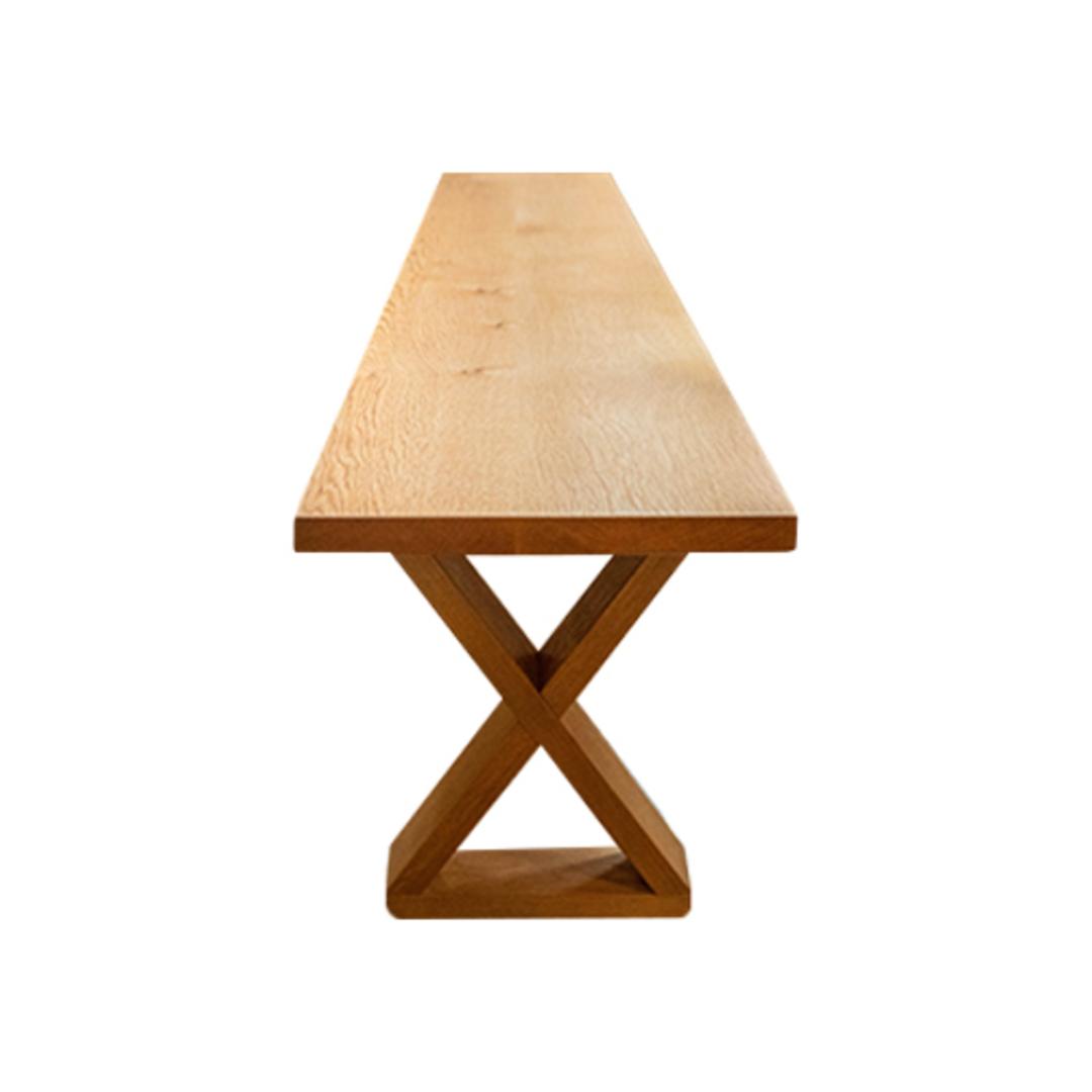 American Oak X-Leg Bench Seat NZ Made image 3