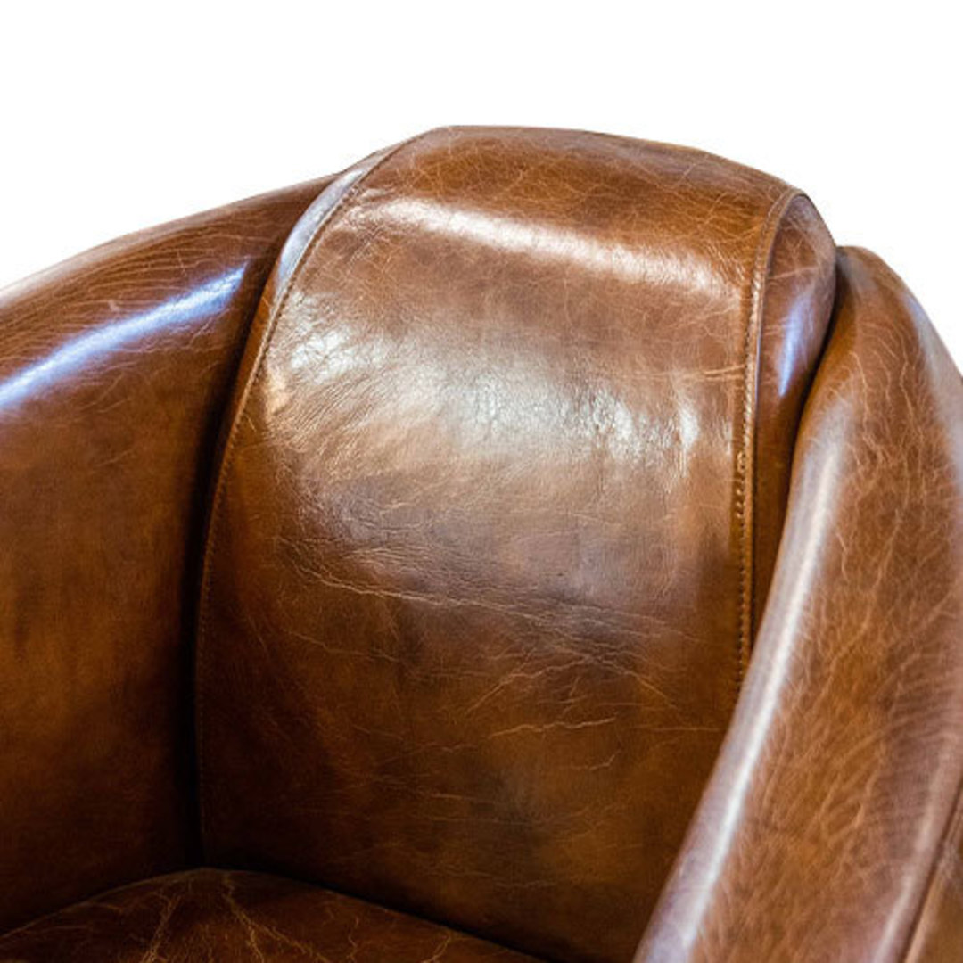 Manchester Aged Italian Leather Chair image 5