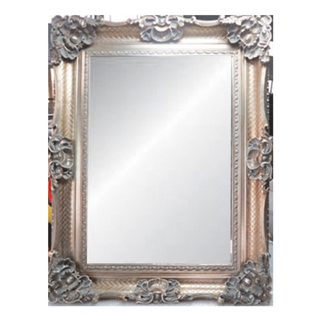Antique Ornate Bevelled Mirror Large image 0