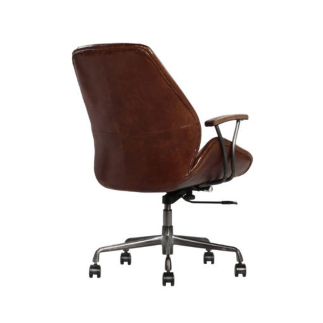 Gloucester Vintage Leather Office Chair Height Adjustable image 5