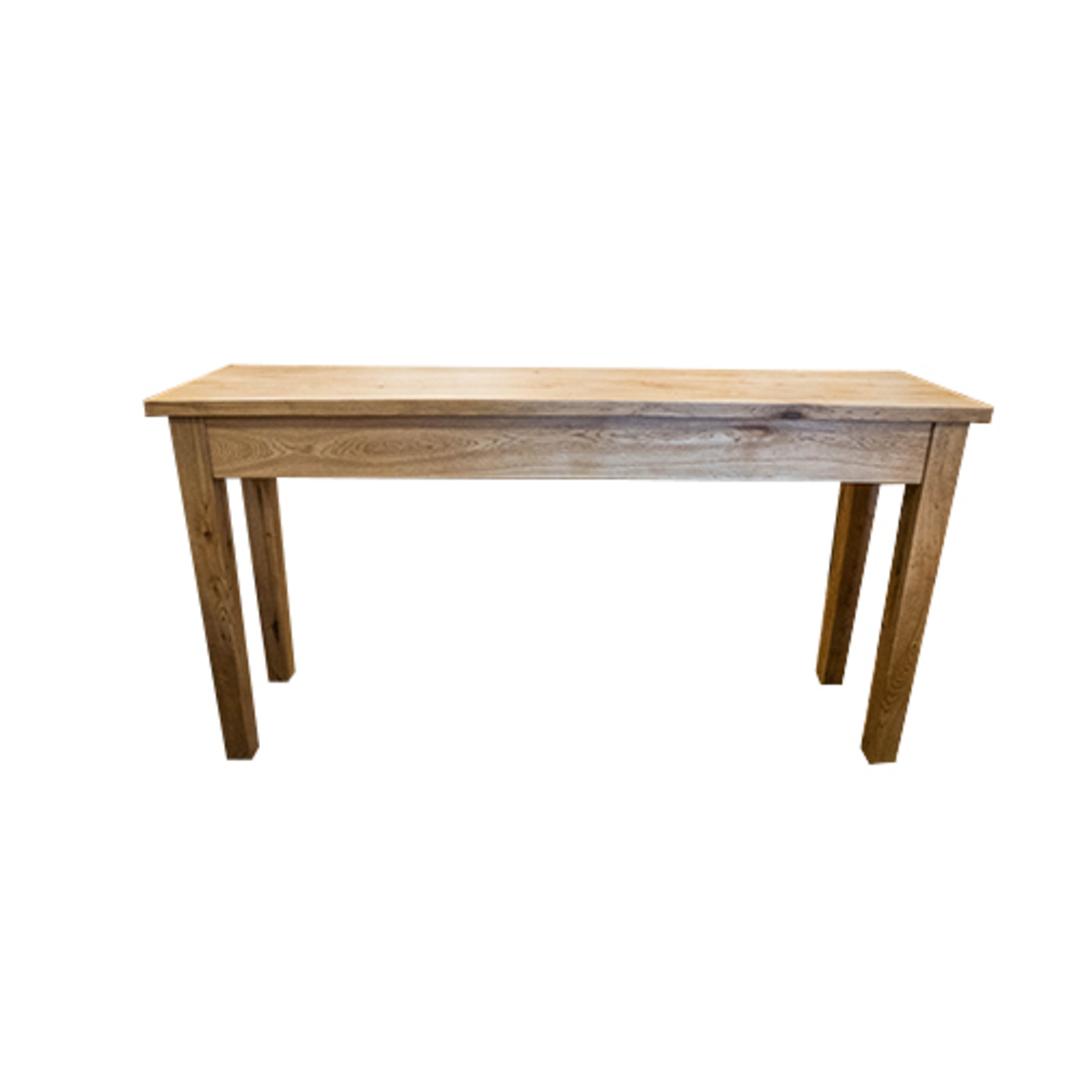 American Oak Hall Table 2 Drawer image 5