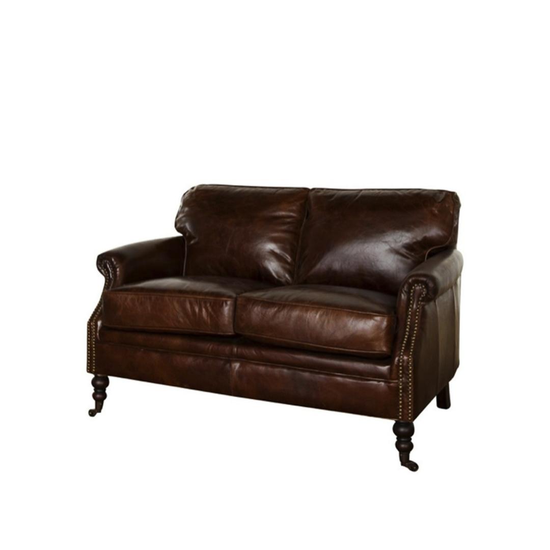 Sandringham Aged Italian Leather 2 Seater image 0