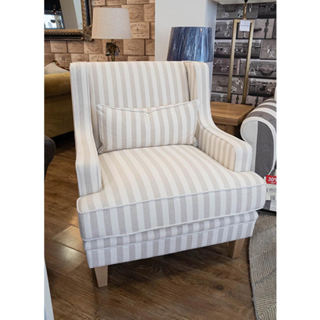 Georgia Arm chair Natural Stripe image 1
