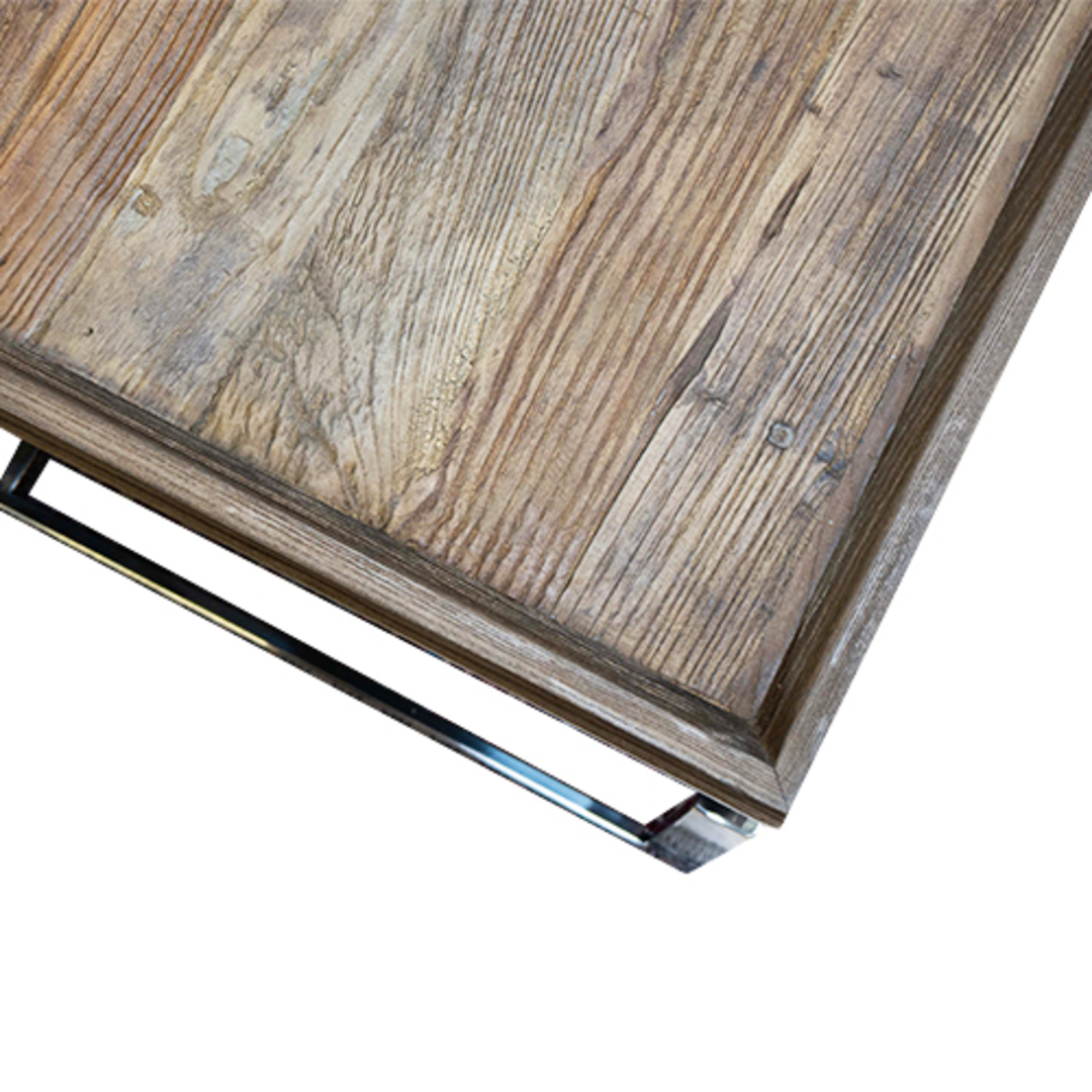 Providence Coffee Table Reclaimed Elm & Stainless Steel image 6